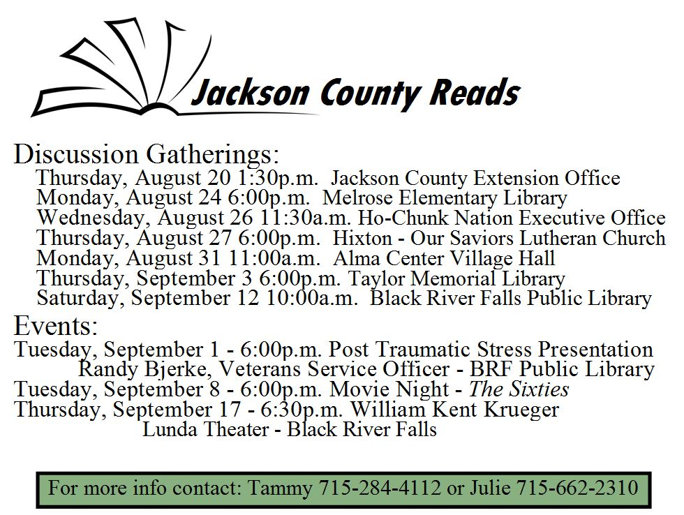 Jackson County Reads Meeting Dates and Times