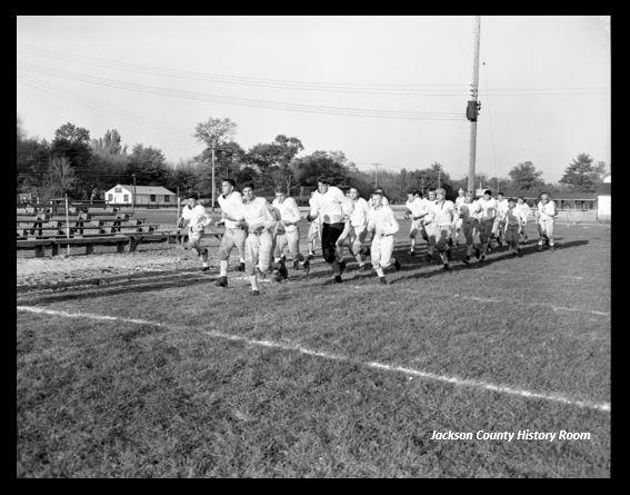 953 BRF High School Football practice 1954