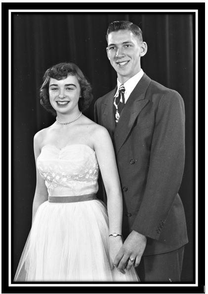 C380 April 1953 BRFHS Junior Prom Foster Wussow Bonnie Peterson