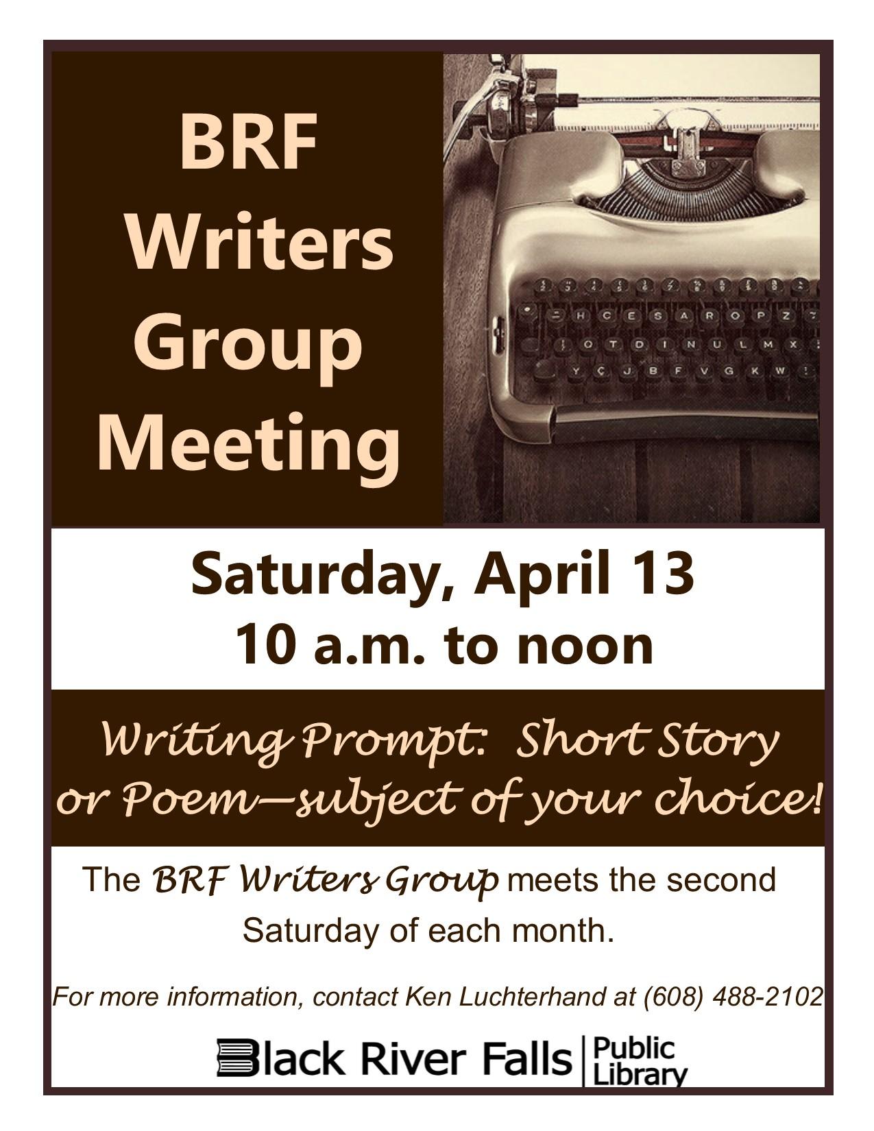 BRF Writers Group Meeting