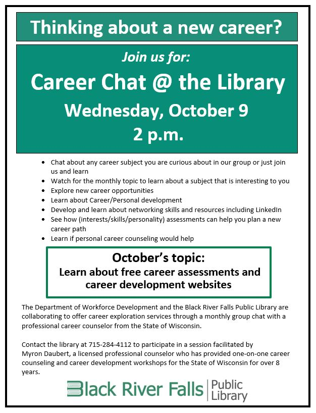 Career Chat @ the Library!