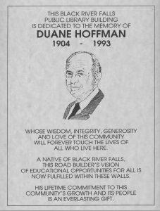 Duane Hoffman Dedication